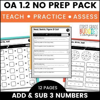 Addition Word Problems   OA 1.2   No Prep Tasks   Assessment   Worksheets