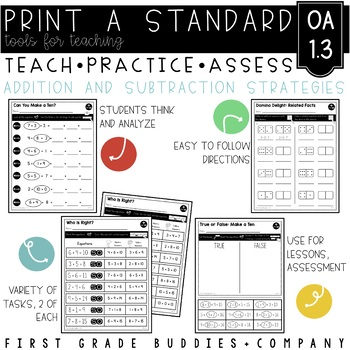 Print a Standard 1.OA.3 {Apply Properties of Operations} No Prep Pack