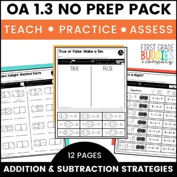 Print a Standard 1.OA.3 {Apply Properties of Operations} No Prep!