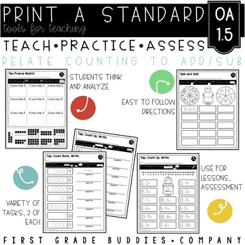 Print a Standard 1.OA.5 {Relate Counting to Addition / Subtraction} No Prep Pack