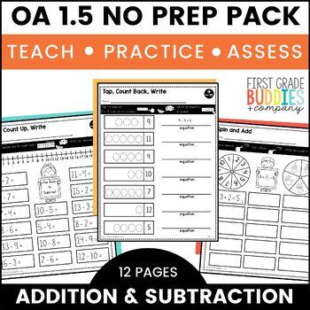 Addition and Subtraction   OA 1.5   No Prep Tasks   Assessment   Worksheets