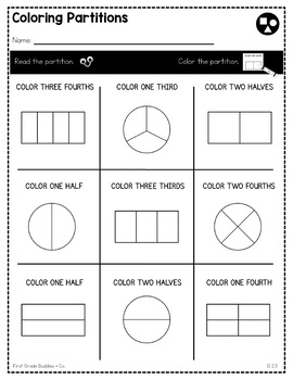 Print a Standard 2.G.3 {Partition Rectangles and Circles} No Prep Pack