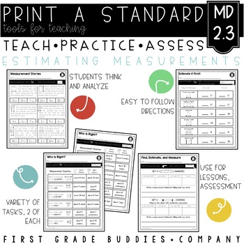 Measurement Estimates | MD 2.3 | No Prep Tasks | Assessment | Worksheets