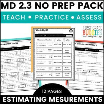 Print a Standard 2.MD.3 {Estimate Lengths} No Prep Pack