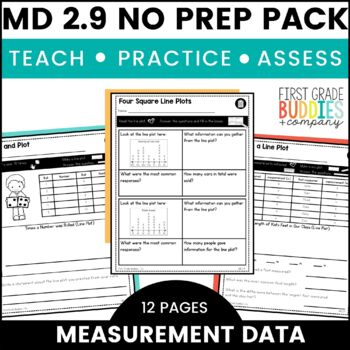 Print a Standard 2.MD.9 {Measurement Data and Line Plots} No Prep Pack