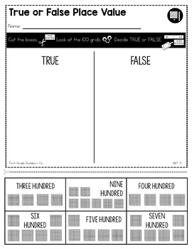 Place Value | NBT 2.1 | No Prep Tasks | Assessment | Worksheets