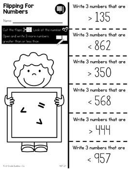 Print a Standard 2.NBT.4 {Comparing Numbers} No Prep Pack