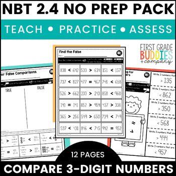 Comparing Numbers   NBT 2.4   No Prep Tasks   Assessment   Worksheets