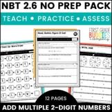 Adding 2 Digit Numbers | NBT 2.6 | No Prep Tasks | Assessment | Worksheets