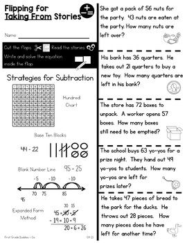 Print a Standard 2.OA.1 {One & Two Step Word Problems Within 100} No Prep Pack