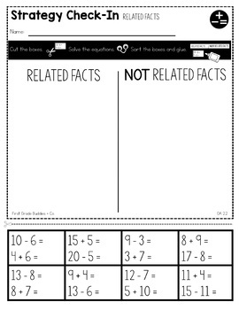 Print a Standard 2.OA.2 {Fluently Add and Subtract Within 20} No Prep Pack