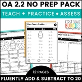Print a Standard OA 2.2 {Fluently Add & Subtract to 20} Activities + Assessments