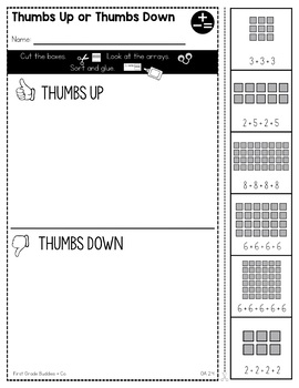 Print a Standard 2.OA.4 {Arrays} No Prep Pack