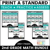 2nd Grade MATH Curriculum Companion | No Prep Tasks | Assessment | Worksheets