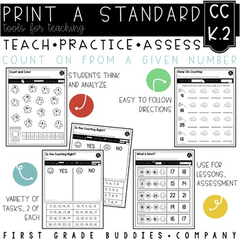 Print a Standard K.CC.2 {Counting Forward From a Given Number} No Prep Pack