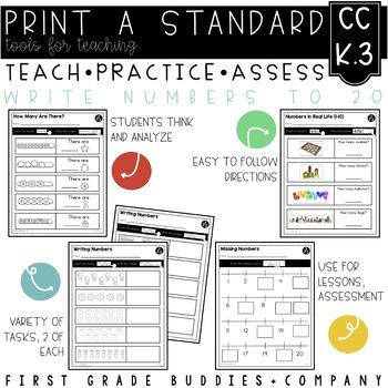 Print a Standard K.CC.3 {Writing Numbers 0-20} No Prep Pack