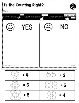 Number Relationships | CC K.4 | No Prep Tasks | Assessment | Worksheets