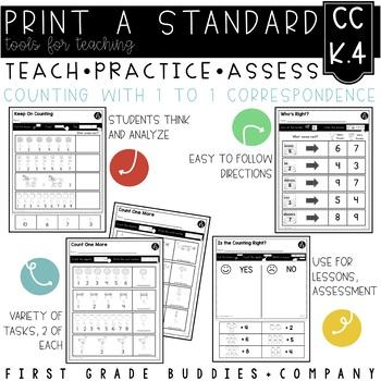 Print a Standard K.CC.4 {Relationship Between Numbers, Qua
