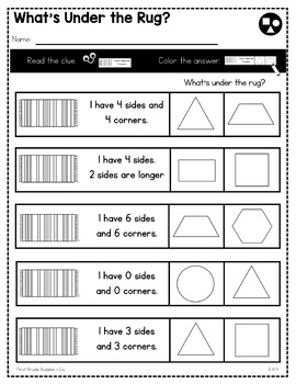 Print a Standard K.G.4 {Analyze and Compare 2D and 3D Shapes} No Prep Pack
