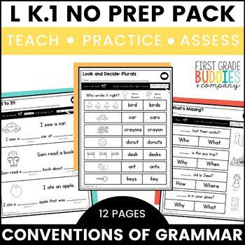 Print a Standard K.L.1 {Conventions of Grammar} No Prep Pack