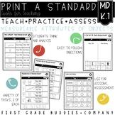 Measurement Attributes | MD K.1 | No Prep Tasks | Assessment | Worksheets