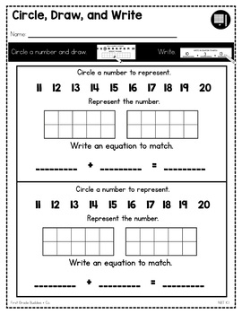 Print a Standard K.NBT.1 {Compose and Decompose the Numbers 11-19} No Prep Pack