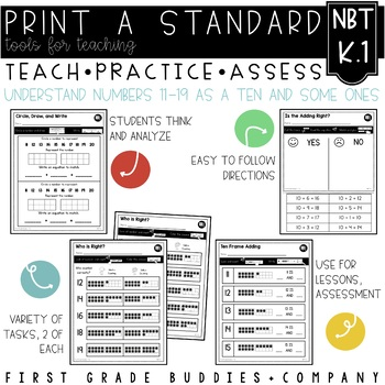 Print a Standard K.NBT.1 {Compose and Decompose the Number