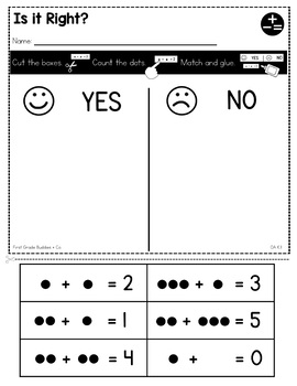 Print a Standard K.OA.1 {Representing Addition and Subtraction} No Prep Pack