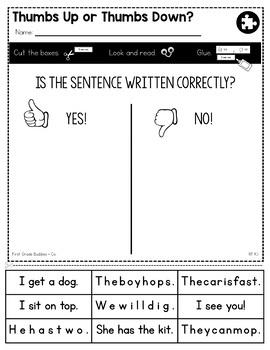 Features of Print | RF K.1 | No Prep Tasks | Assessment | Worksheets