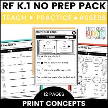 Print a Standard K.RF.1 {Organization + Basic Features of