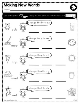 Sounds, Words, Syllables | RF K.2 | No Prep Tasks | Assessment | Worksheets