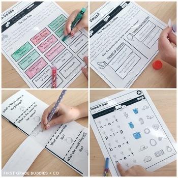 Print a Standard RF K.4 {Fluency with Emergent Text} Activities + Assessments