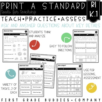 Print a Standard RI K.1 {Ask + Answer Questions} Activities + Assessments