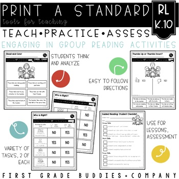 Print a Standard K.RI.10 / K.RI.10 {Group Reading Activities} No Prep Pack