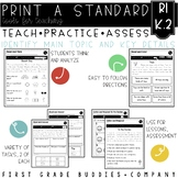 Main Topic and Details | RI K.2 | No Prep Tasks | Assessment | Worksheets