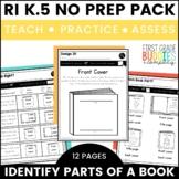 Print Concepts | RI K.5 | No Prep Tasks | Assessment | Worksheets