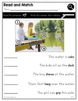 Unknown Words in Text | RI K.4 | No Prep Tasks | Assessment | Worksheets