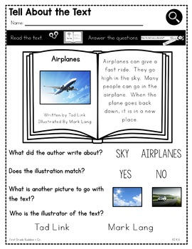 Print a Standard K.RI.6 {Role of the Author and Illustrator} No Prep Pack