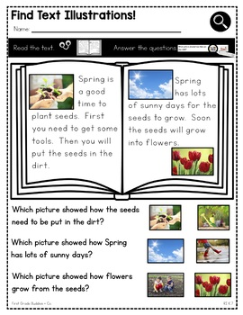Print a Standard RI K.7 {Illustrations Within the Text} Activities + Assessments