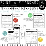 Print a Standard RL K.3 {Story Elements} No Prep Activities + Assessments