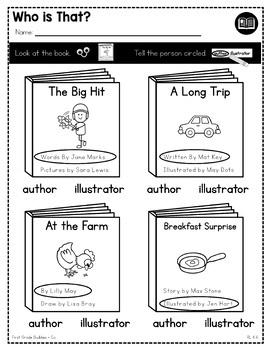 Print a Standard RL K.6 {Author + Illustrator Roles} Activities + Assessments