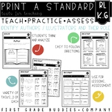 Authors and Illustrators   RL K.6   No Prep Tasks   Assessment   Worksheets
