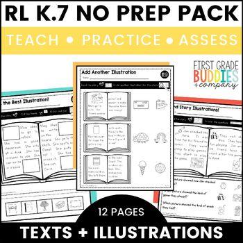 Text Illustrations | RL K.7 | No Prep Tasks | Assessment | Worksheets