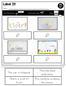Print a Standard K.SL.5 {Add Drawings to Descriptions} No Prep Pack
