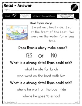 Print a Standard K.W.5 {Strengthening Writing} No Prep Pack