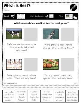 Research Writing | W K.7 | Print a Standard | No Prep Tasks | Assessment