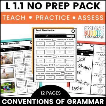 Grammar | L 1.1 | No Prep Tasks | Assessment | Worksheets