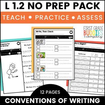 Print a Standard L 1.2  {Grammar: Capitalization and Punctuation} No Prep Pack