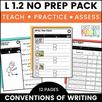 Print a Standard L 1.2 {Capitalization & Punctuation} Activities + Assessments