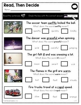Reading Unknown Words | L 1.4 | No Prep Tasks | Assessment | Worksheets